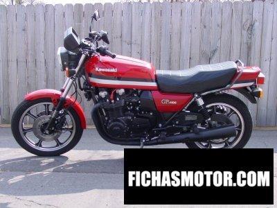 Ficha técnica Kawasaki gpz 1100 f 1 1981