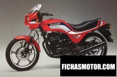 Imagen moto Kawasaki gpz 305 belt drive año 1988