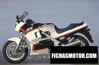 Imagen moto Kawasaki gpz 600 r año 1987