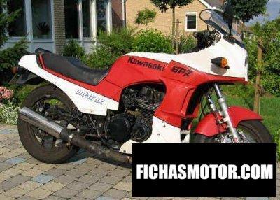 Ficha técnica Kawasaki gpz 750 1986