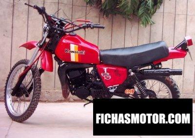 Imagen moto Kawasaki ke 175 año 1982
