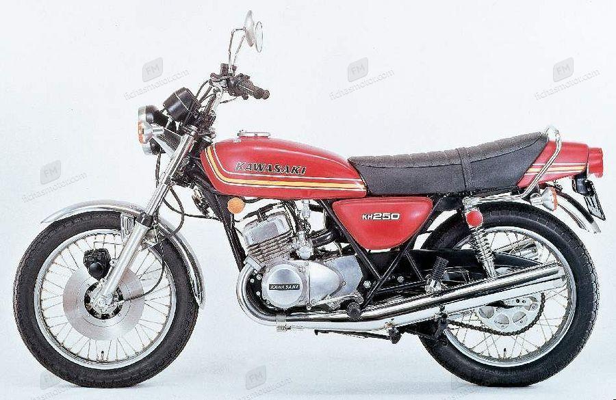 Ficha técnica Kawasaki kh 250 1976