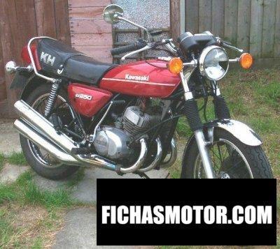 Ficha técnica Kawasaki kh 250 1977
