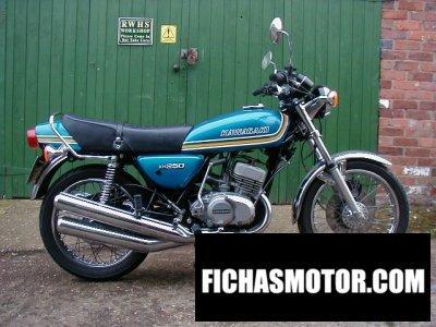 Ficha técnica Kawasaki kh 250 1978