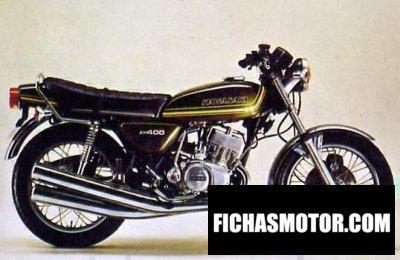 Ficha técnica Kawasaki kh 400 1977