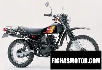 Imagen moto Kawasaki kl 250 año 1982