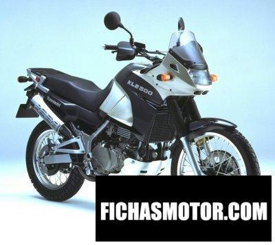 Imagen moto Kawasaki kle 500 año 2002