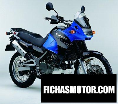 Imagen moto Kawasaki kle 500 año 2004