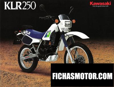 Imagen moto Kawasaki klr 250 año 1988