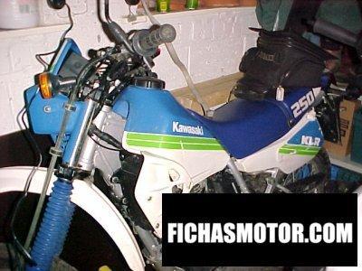 Imagen moto Kawasaki klr 250 año 1990