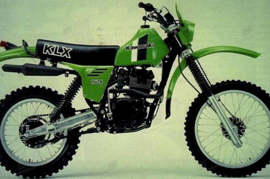 Ficha técnica Kawasaki klx 250 1982