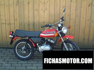 Imagen moto Kawasaki km 100 año 1980