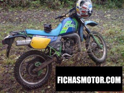 Imagen moto Kawasaki kmx 125 año 1987
