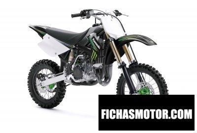 Imagen moto Kawasaki kx 85 monster energy año 2009