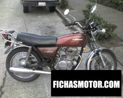 Imagen moto Kawasaki kz200a año 1978