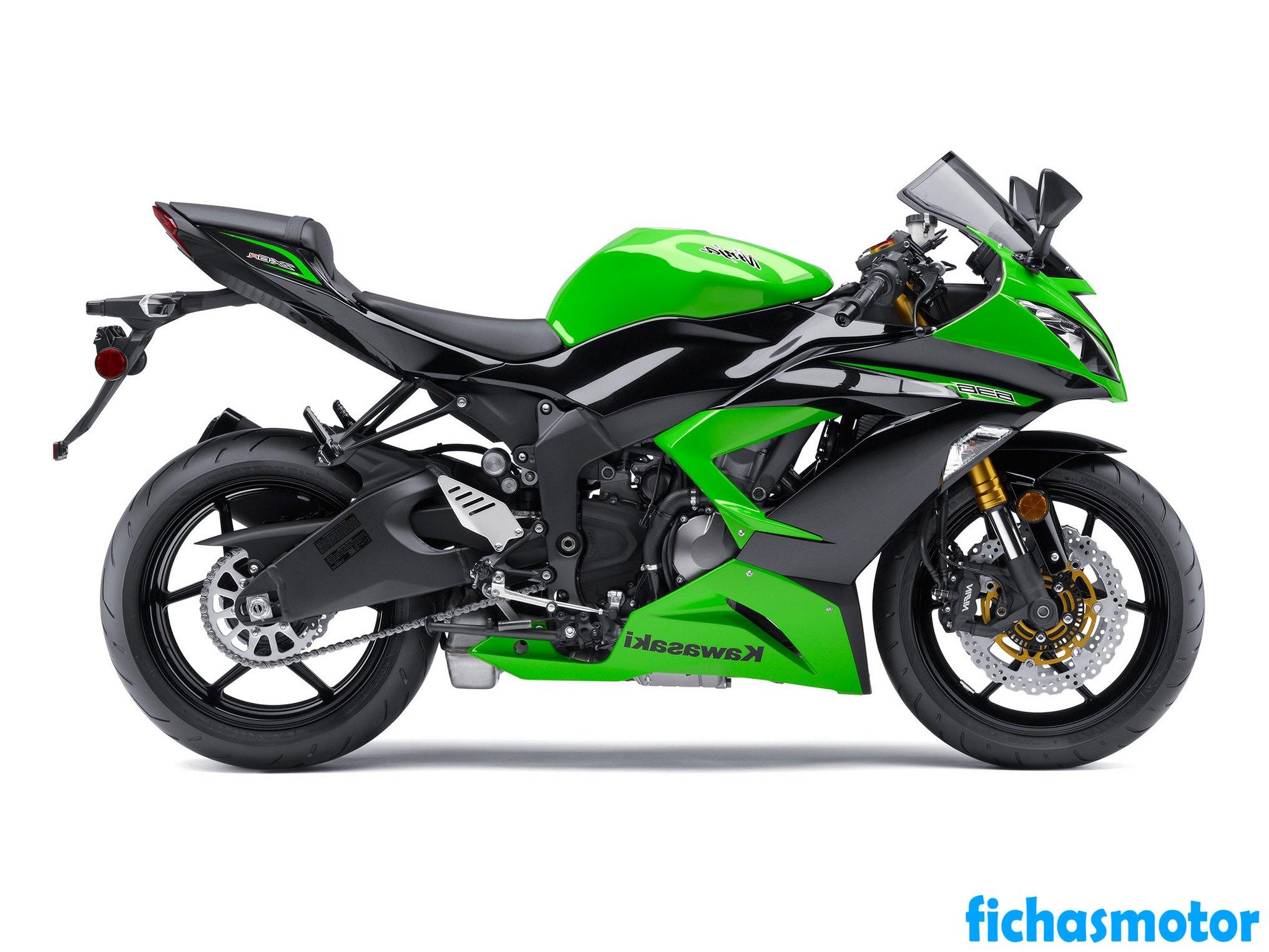 Ficha técnica Kawasaki ninja zx -6r 2013