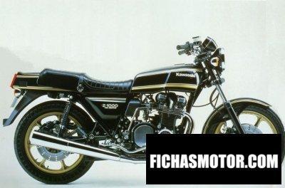 Imagen moto Kawasaki z 1000 fuel injection año 1980