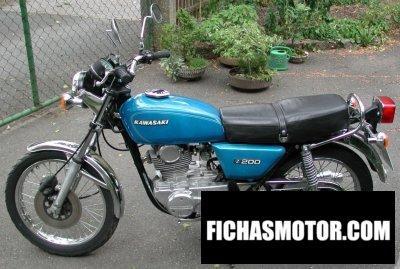 Imagen moto Kawasaki z 200 año 1978