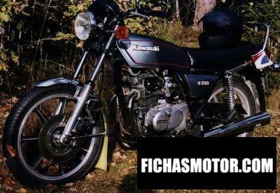 Imagen moto Kawasaki z 250 a año 1980