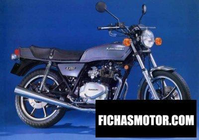 Imagen moto Kawasaki z 250 a año 1982