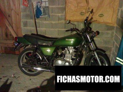Imagen moto Kawasaki z 400 j año 1982