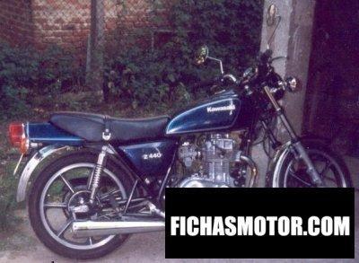 Ficha técnica Kawasaki z 440 c 1980