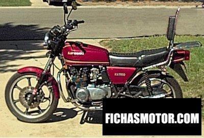 Imagen moto Kawasaki z 500 año 1980