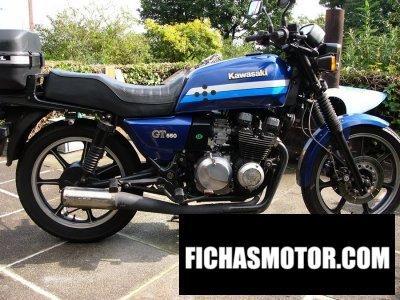 Ficha técnica Kawasaki z 550 gt 1987