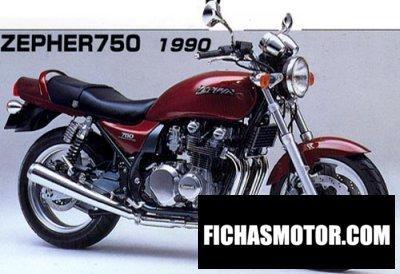 Imagen moto Kawasaki zephyr 750 año 1992