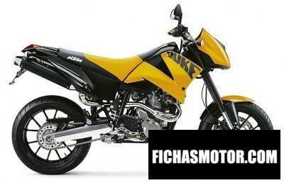 Imagen moto Ktm 640 duke ii yellow - black año 2004