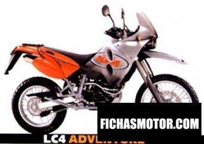 Ficha técnica Ktm lc4 adventure 640 2001