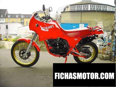 Ficha técnica Moto morini 501 coguaro 1990