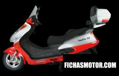 Ficha técnica Motom trancity 125 2009