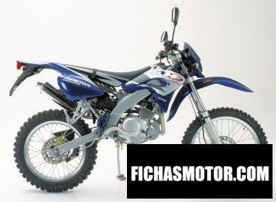 Ficha técnica Motorhispania arena 125 enduro 2006