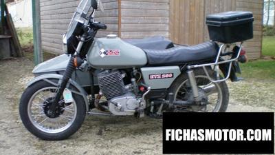 Ficha técnica Muz etz 250 (with sidecar) 1986