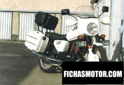 Ficha técnica Muz etz 251 (with sidecar) 1990
