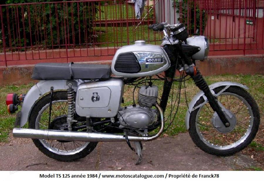 Ficha técnica Muz ts 125 1982