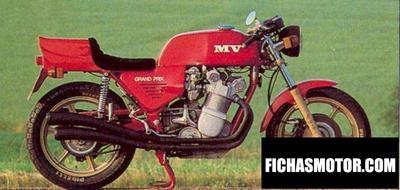Ficha técnica Mv agusta 1000 ago 1980