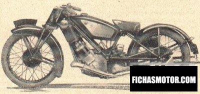 Imagen moto Scott super squirrel año 1933