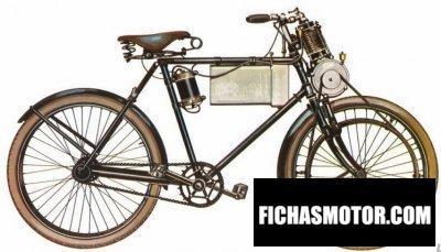 Obraz motocykla Werner motocyclette rok 1897