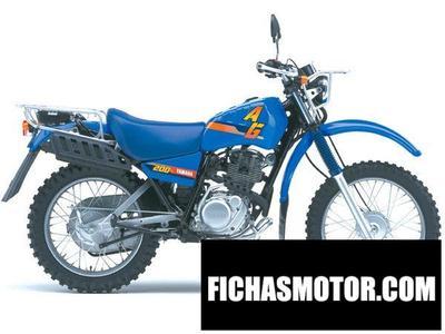 Imagen moto Yamaha ag 200 año 1980