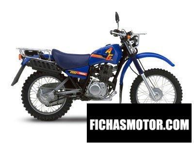 Imagen moto Yamaha ag200f año 2018