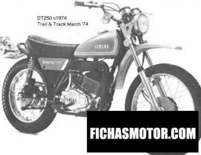 Ficha técnica Yamaha dt 250 1974