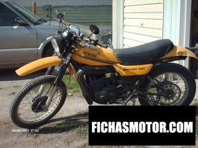 Ficha técnica Yamaha dt 250 mx 1979