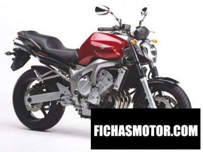 Imagen moto Yamaha fz 6 año 2004