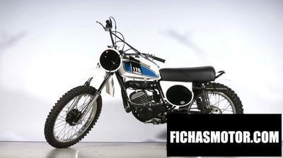 Ficha técnica Yamaha mx 175 b 1975