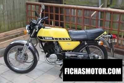 Imagen moto Yamaha rd 125 dx año 1978
