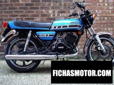 Imagen moto Yamaha rd 250 año 1977