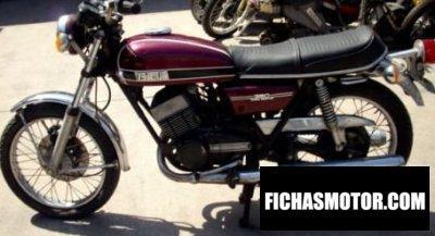 Ficha técnica Yamaha rd 350 (5-speed) 1974