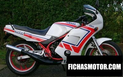 Ficha técnica Yamaha rd 350 f 1990